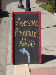 awesome playground ahead