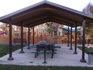picnic shelter across from playground